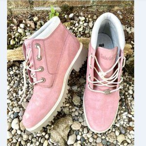 Timberland Womens Pink Nellie Ankle Boots 9.5